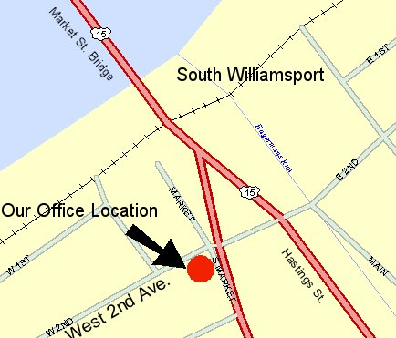 Map of 202 South Market St. S. Williamsport, PA